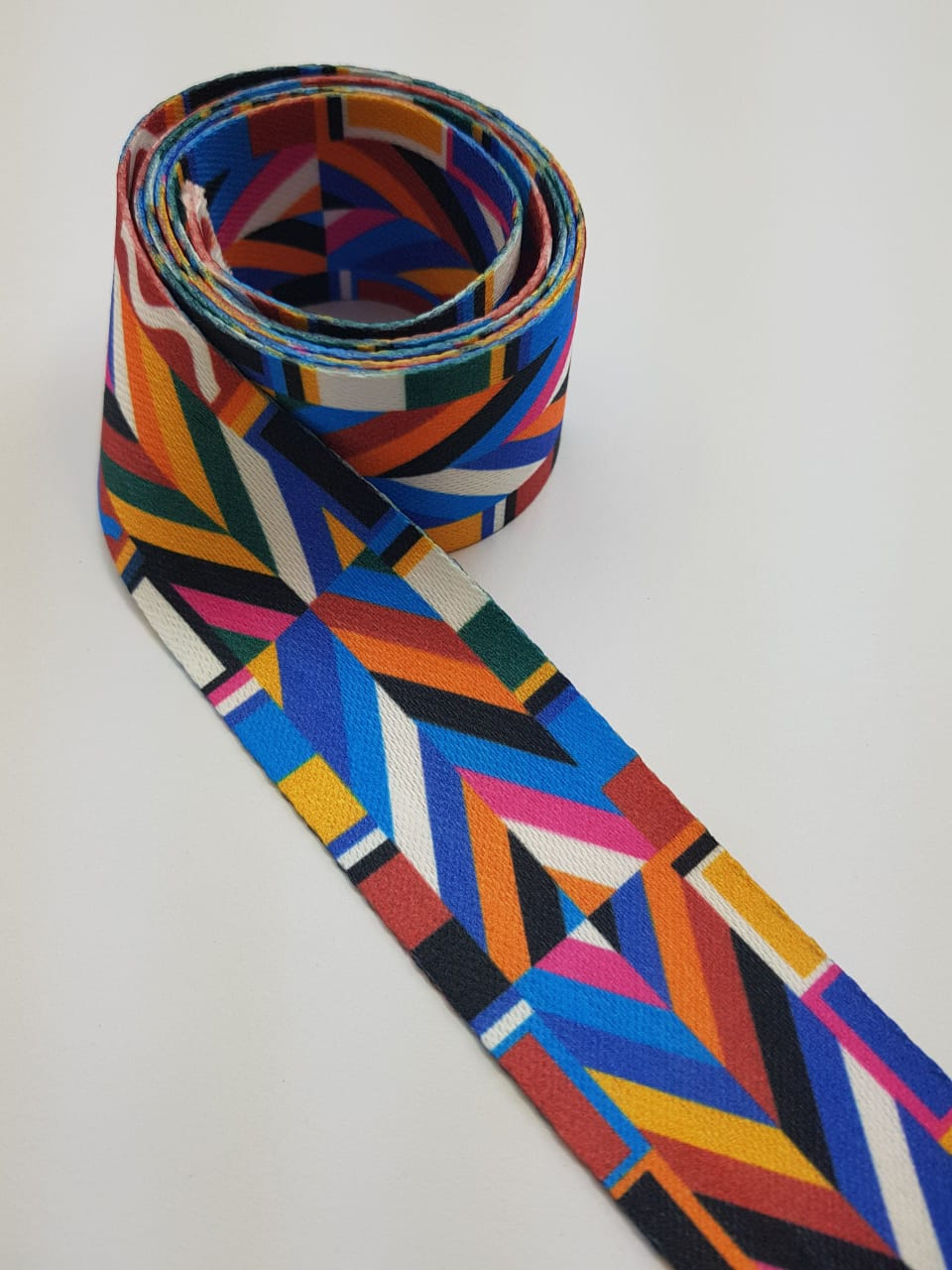 Alça chic estampada / colorida - 4cm x 1,50m