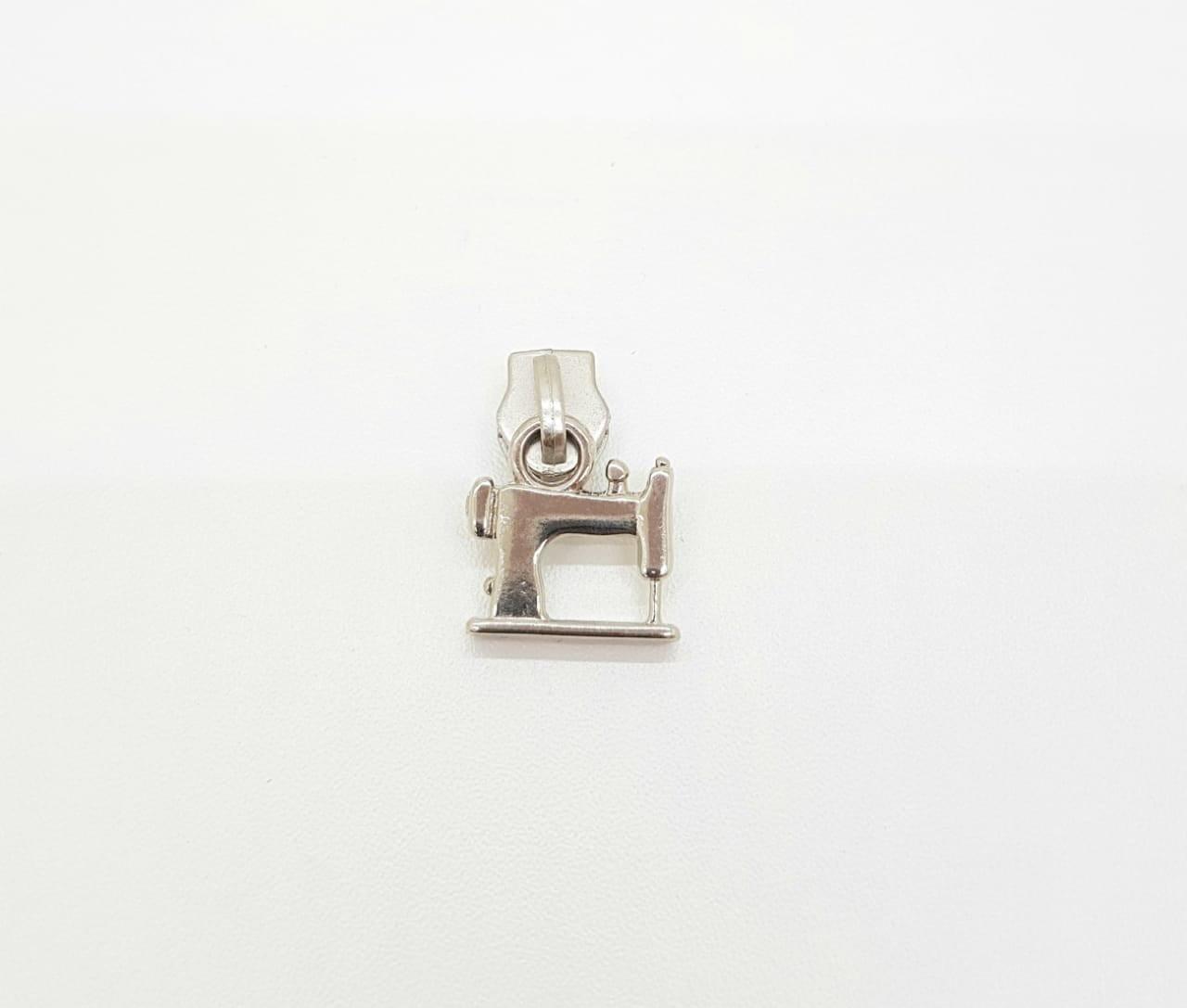 Cursor de zíper 5mm - Máquina de costura - Níquel