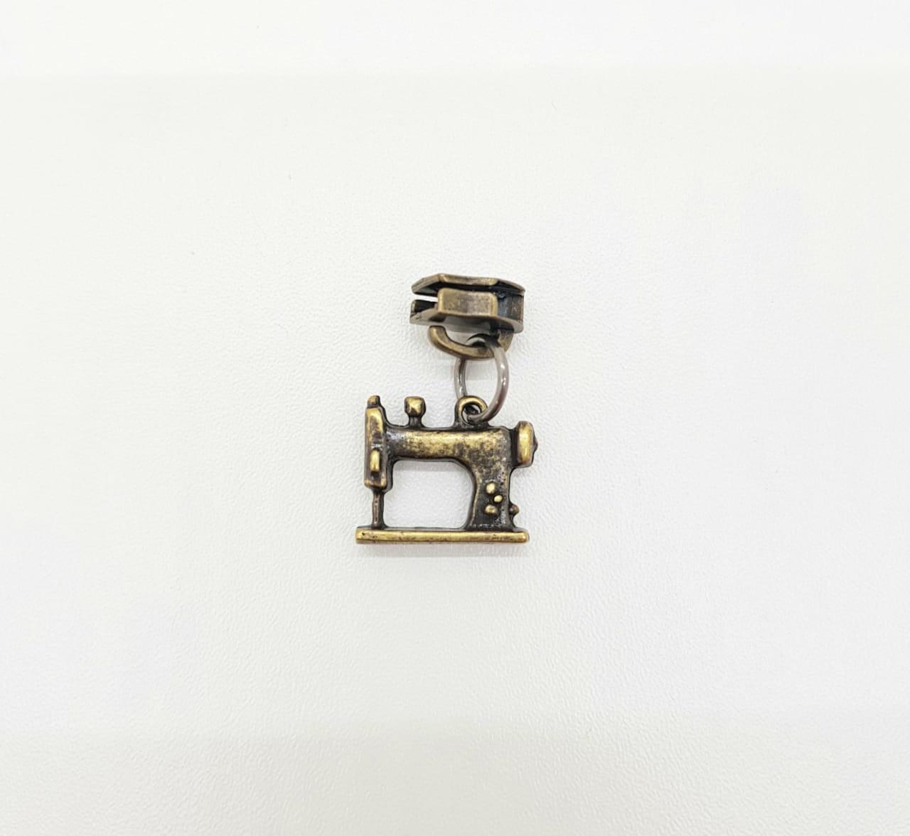 Cursor de Zíper 5mm / Máquina de Costura - Ouro Velho (4 unidades)