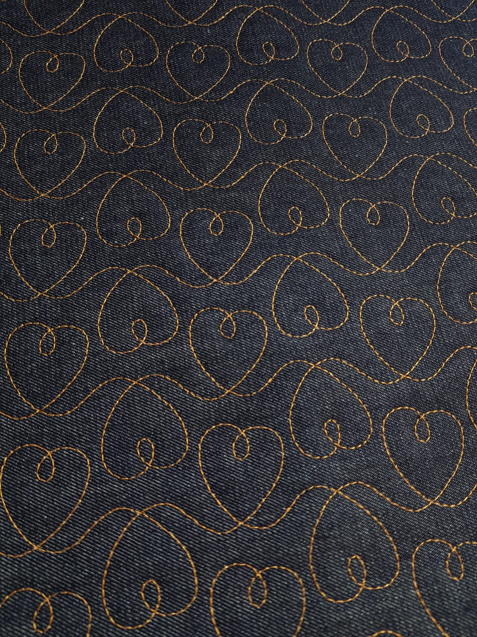 Jeans Matelassado - love - 0,50cm x 1,50m