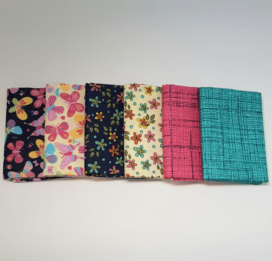 Kit borboletas e flores / 6 estampas - 0,25cm x 0,75cm