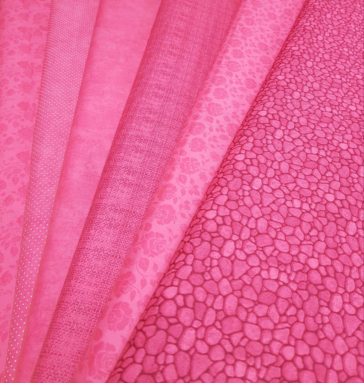 Kit composê rosa - 6 estampas / 0,25cm x 1,50m (cada)
