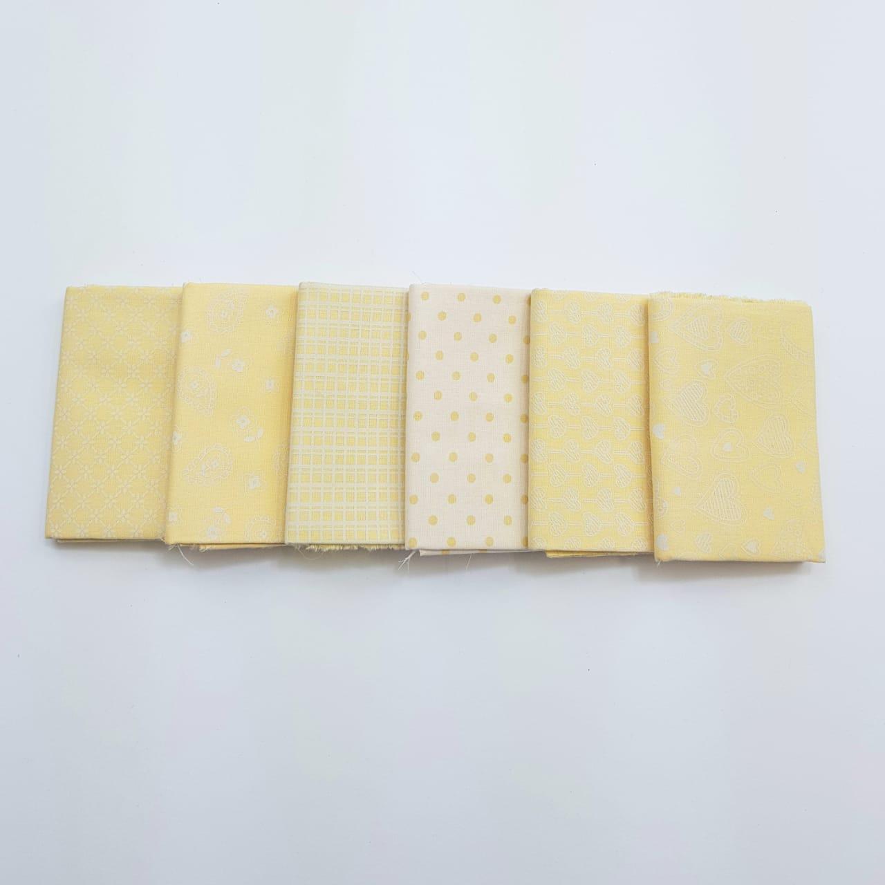 kit romântico amarelo / 6 estampas - 0,25 x 0,75cm