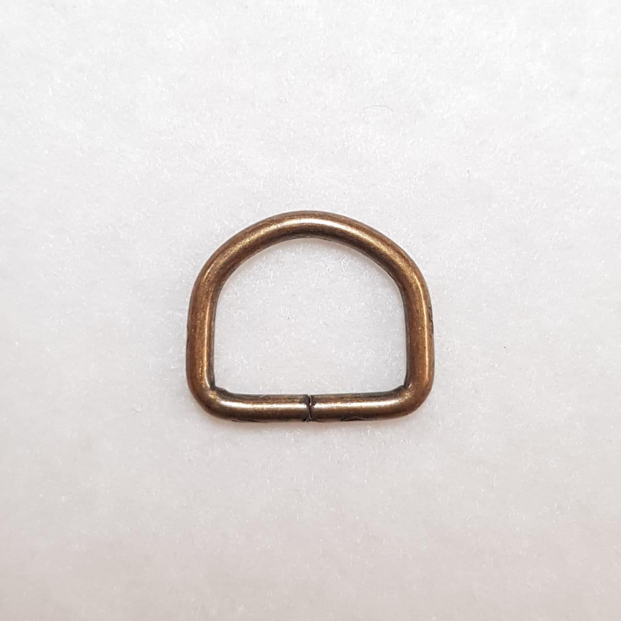 Meia Argola - Ouro Velho - 2cm