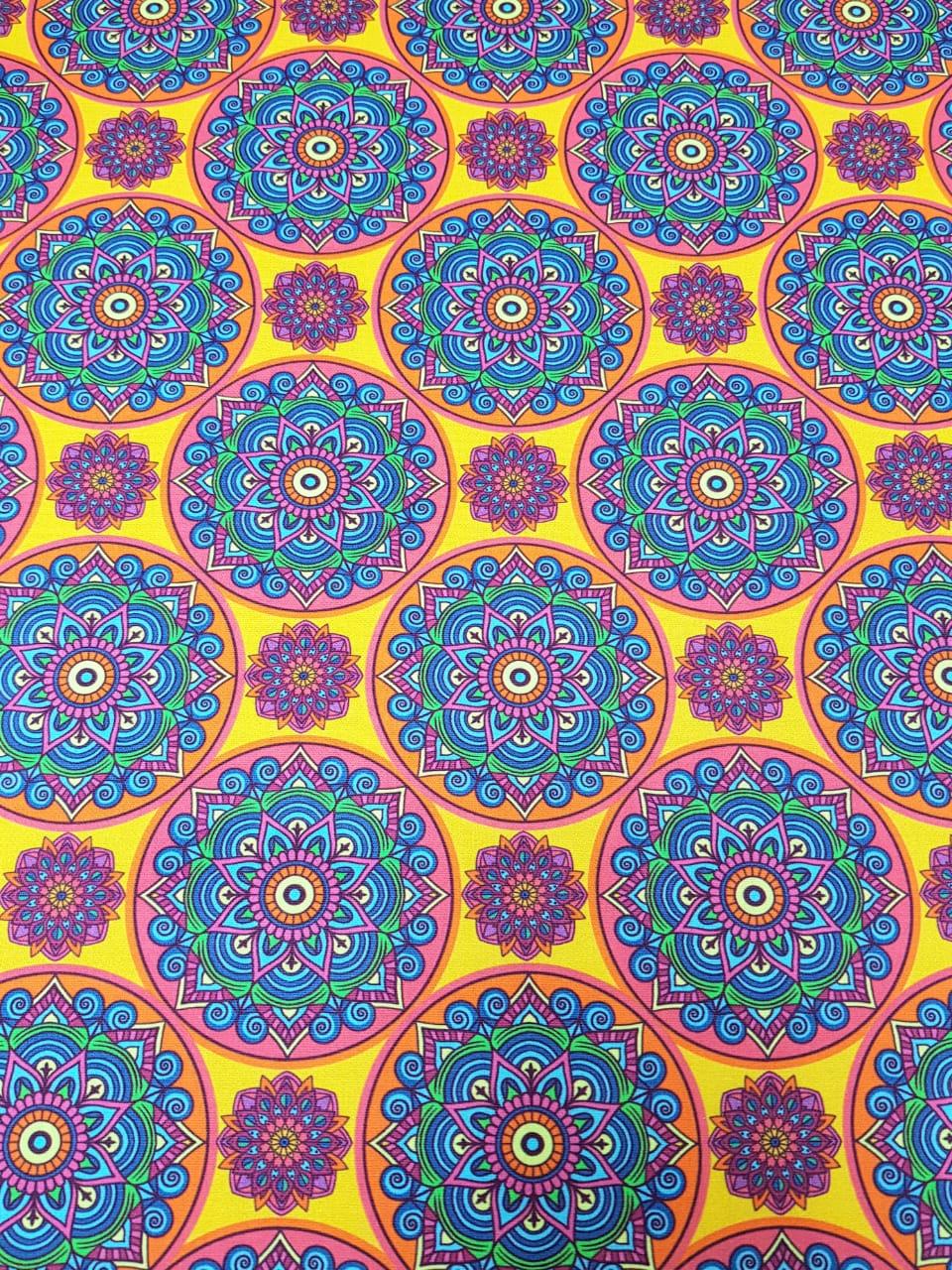 Digital Mandala Sol - 0,25cm x 1,50m