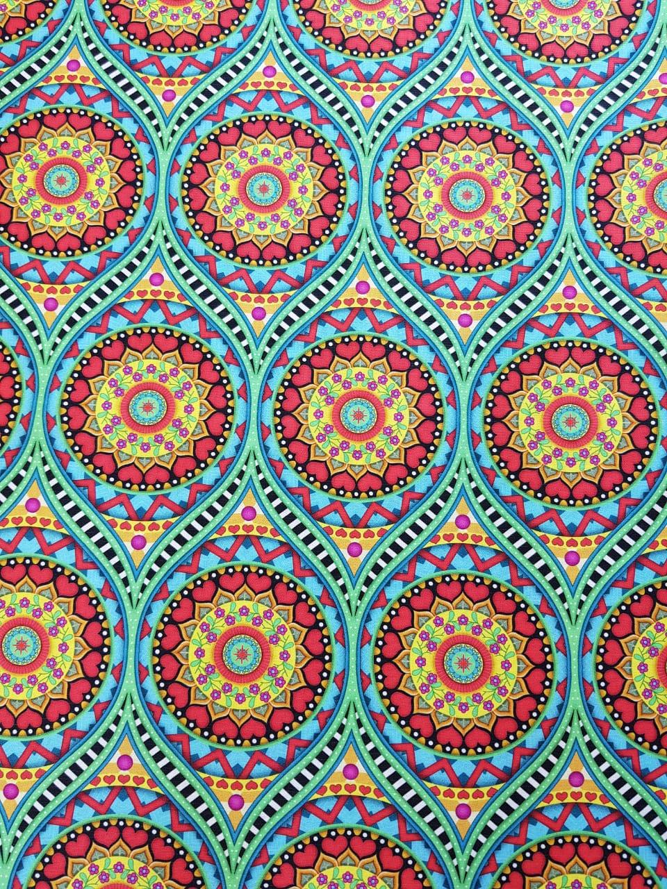 Digital Mandala Tibet  - 0,25cm x 1,50m
