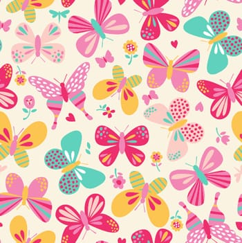 tecido borboletas fundo bege - 0,50cm x 1,50m