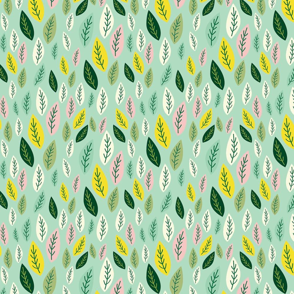 Folhas limão - 30x150cm