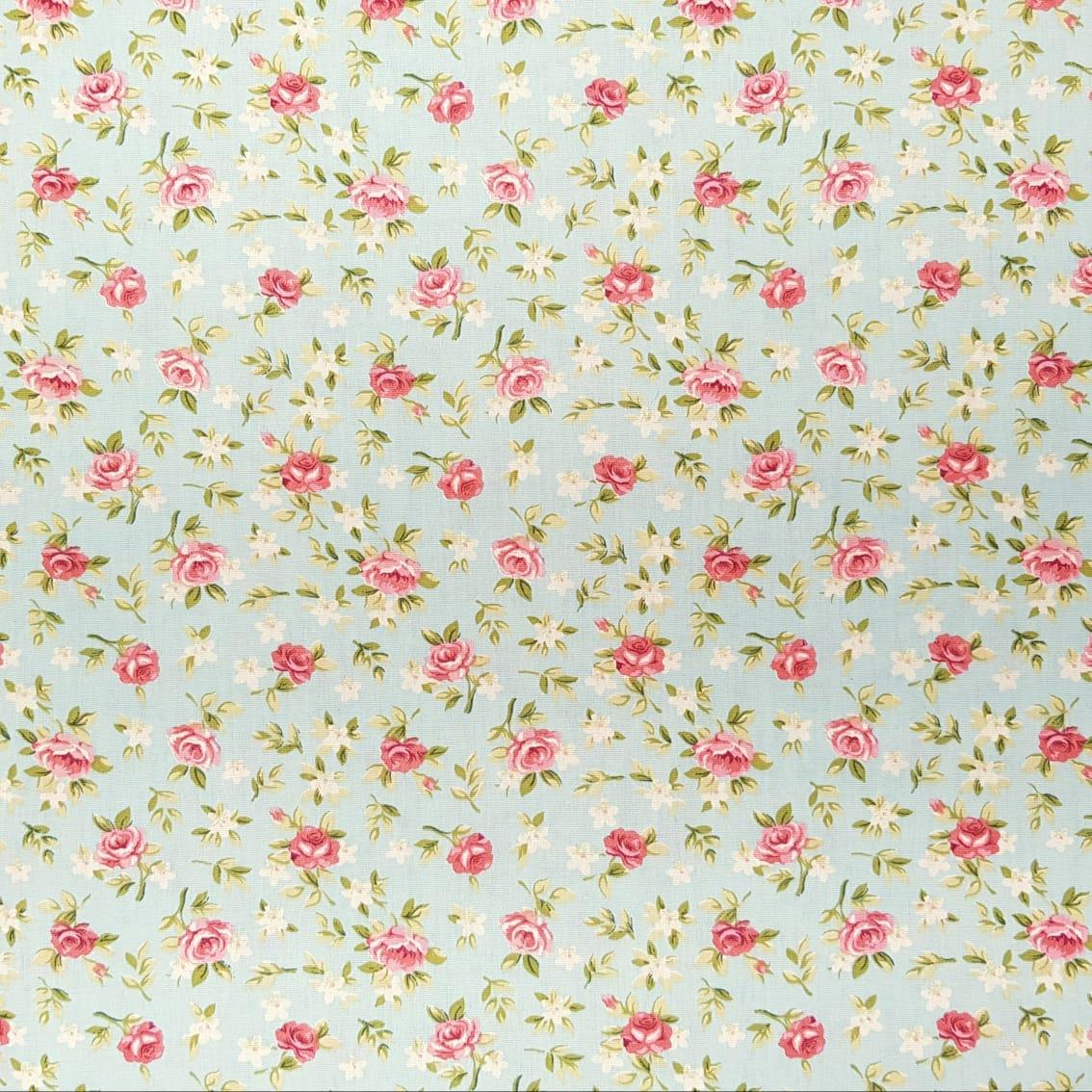 Lucia / floral verde seco - 30x150cm