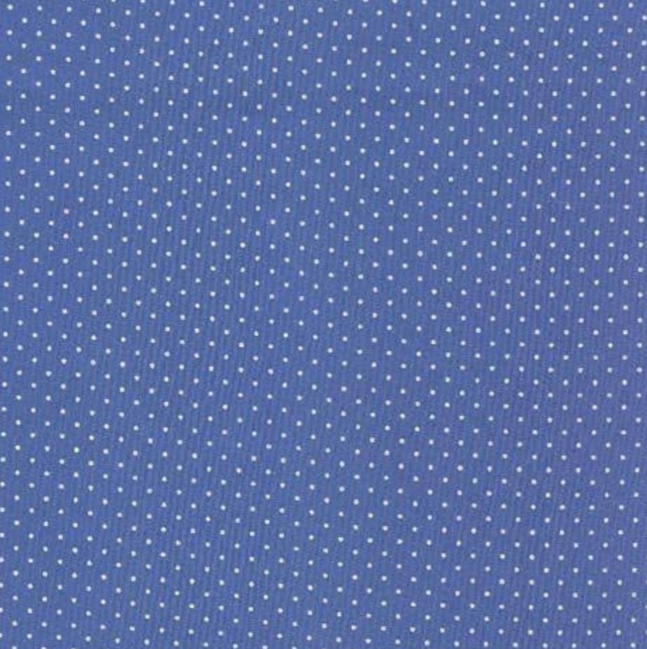 Micro poá branco / fundo azul royal - 0,50cm x 1,50m