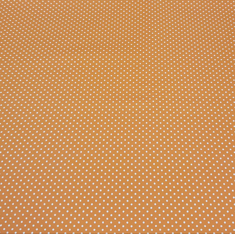 Poá branco / fundo laranja - 50x150cm