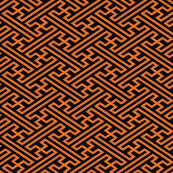 tecido geométrico laranja - 0,50cm x 1,50m