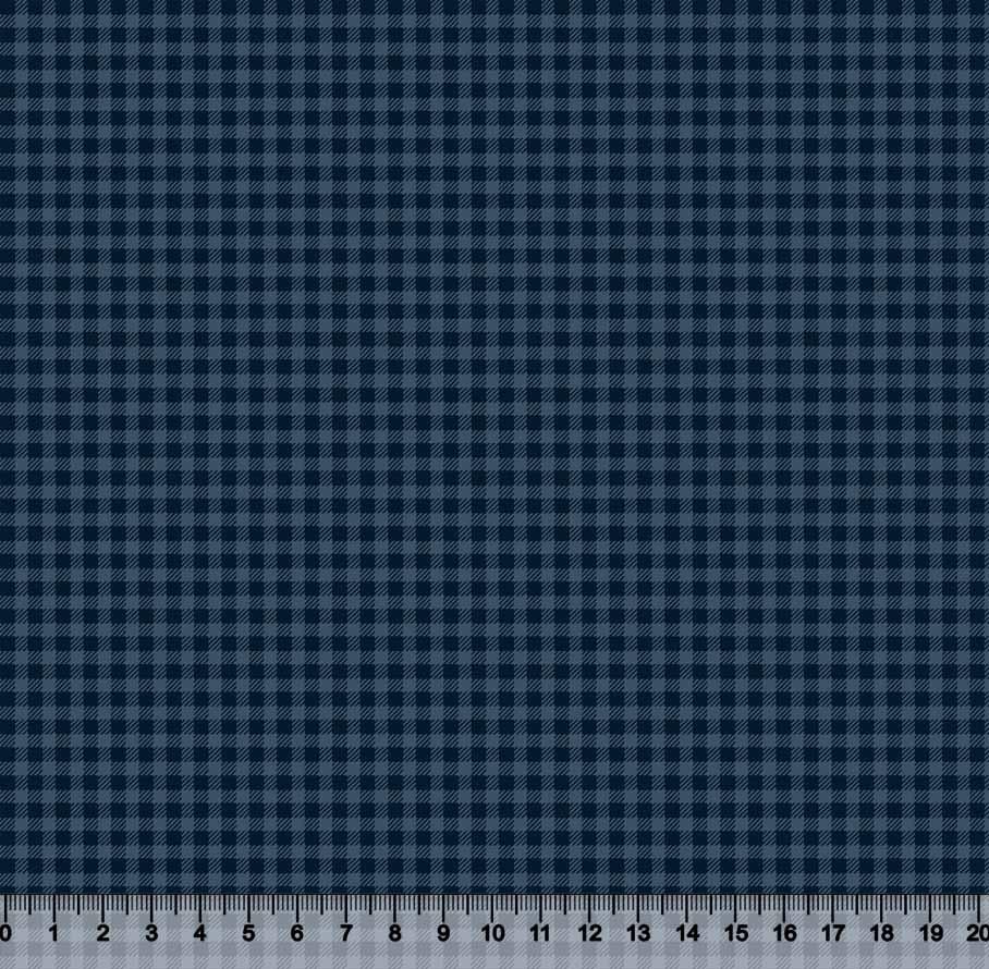 tecido nacional xadrez azul - 0,50cm x 1,50m