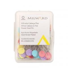 alfinete cabeça flor milward coats - c/80 un