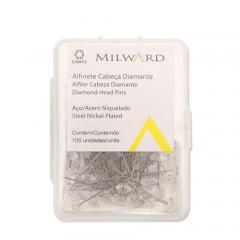 Alfinete corrente cabeça diamante coats - c/100 un