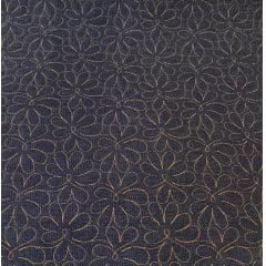 Jeans Matelassado - Flowers - 0,50cm x 1,50m
