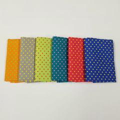 kit poá colorido / 6 estampas - 0,25cm x 0,75cm