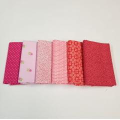 kit tons de rosa / 6 estampas - 25x75cm