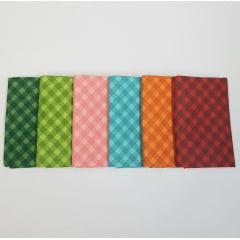 Kit xadrez diagonal - 6 estampas - 25x75cm