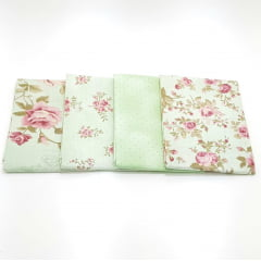 kit floral milyta verde / 4 estampas - 0,50cm x 0,75cm