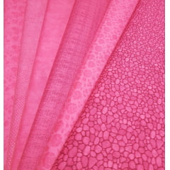 Kit composê rosa - 6 estampas / 0,25cm x 1,50m (cada)
