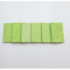 kit romântico verde / 6 estampas - 0,25 x 0,75cm