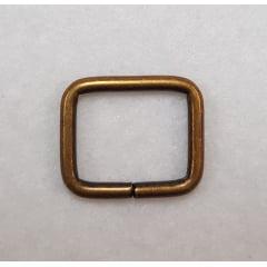 Argola retangular Alta - ouro velho - 2cm
