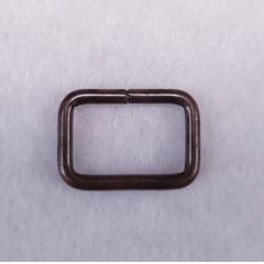 Argola retangular - Ouro Velho - 1,5cm