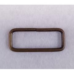 Argola retangular - Ouro velho - 2,5cm