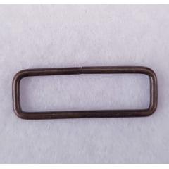 Argola retangular - Ouro Velho - 3cm