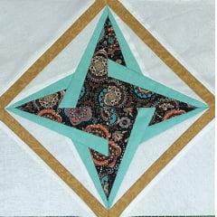 Patchwork - Bloco Estrela Magnífica