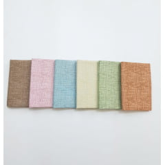 Kit textura tons pastéis/ 6 estampas - 0,25 x 0,75cm