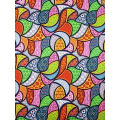 Digital - Azulejos coloridos / 0,25cm x 1,50m