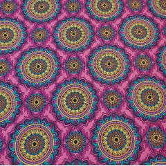 Mandala tarô / fundo rosa - 25x150cm