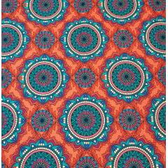 Mandala Tarôt / fundo coral - 25x150cm