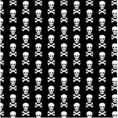 Caveira / fundo preto - 0,50cm x 1,50m