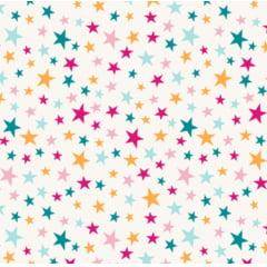 tecido estrelas coloridas - 0,50cm x 1,50m