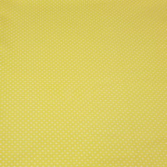 Poá branco / fundo amarelo - 50x150cm