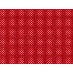 Micro poá branco / fundo vermelho - 0,50cm x 1,50m