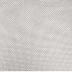 Poá branco / fundo bege - 50x150cm