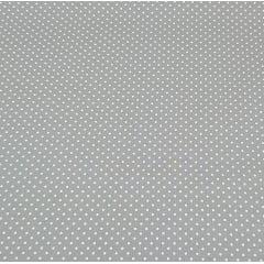 Poá branco / fundo cinza - 50x150cm