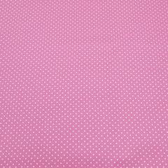 Poá branco / fundo rosa - 50x150cm