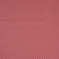 Poá branco / fundo rosa goiaba - 50x150cm