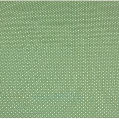 Poá branco / fundo verde - 50x150cm