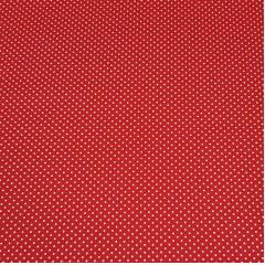 Poá branco / fundo vermelho - 50x150cm