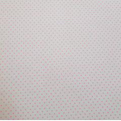 Poá colorido / cinza com poá rosa - 50x150cm