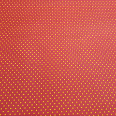Poá colorido / pink com poá amarelo - 50x150cm