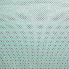 Poá colorido - turquesa com poá pink -50x150cm