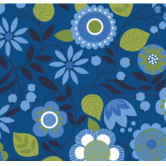 tecido floral classic blue - 0,50cm x 1,50m