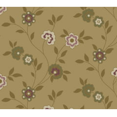 Tecido Nacional - Floral Marrakesh Caramelo